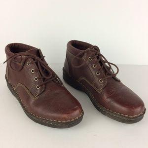 L.L. Bean Women's Leather Lace Up Ankle Boots Sz 9